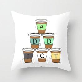 Tea addict Throw Pillow