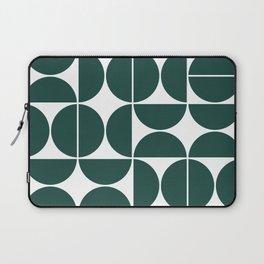 Mid Century Modern Geometric 04 Dark Green Laptop Sleeve