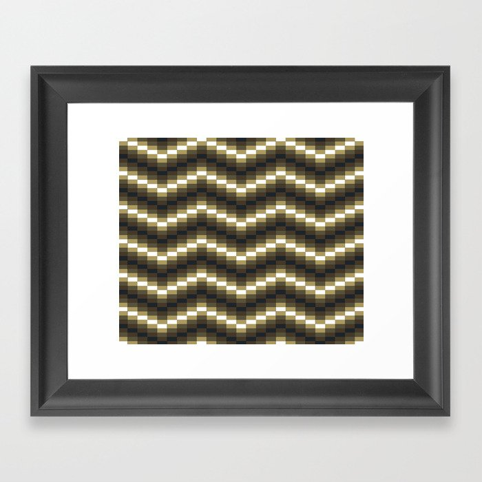 Block Wave Illustration Artwork Framed Art Print