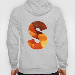 Letter S - Initial Wood Alphabet Hoody