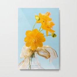 Yellow Globeflower - Golden Queen Trollius x Cultorum 2 Metal Print