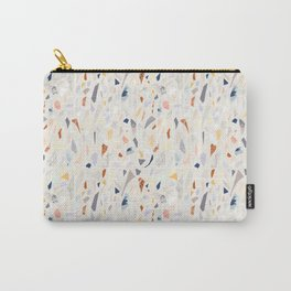 Terrazzo. Vibrant colors. Textured shapes. Confetti. Hand drawn design. Carry-All Pouch