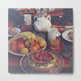 Food photography, fruit still life, kitchen wall art, bed & breakfast, food porn, fine art Metal Print