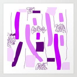 Purple shades Art Print