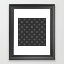 Gnostic Shadow Dot Framed Art Print