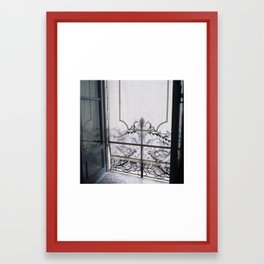 you came too close, and all is burning Framed Art Print