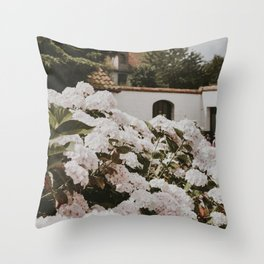 Bruges Flowers | Fine Art Travel Photography Throw Pillow