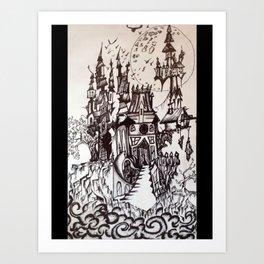 Happy castle Art Print