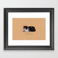 Cosmic Kitty Framed Art Print