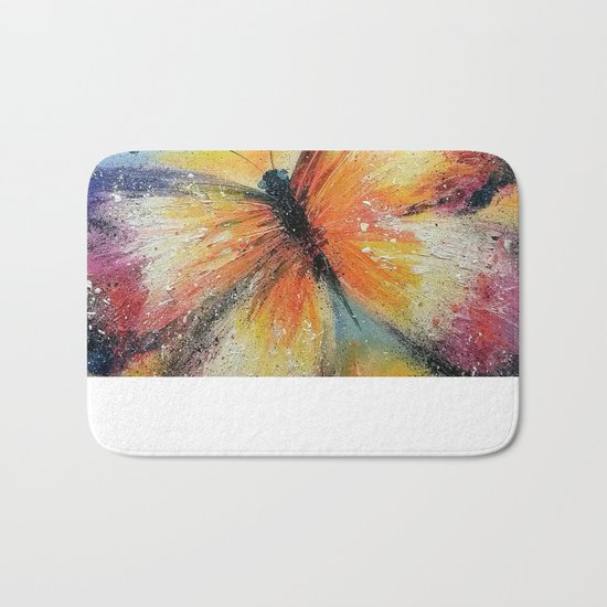 Butterfly on the rise Bath Mat