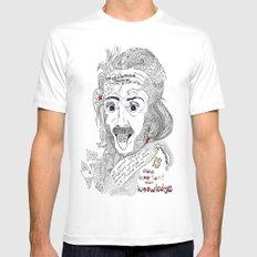 Einstein Mens Fitted Tee MEDIUM White