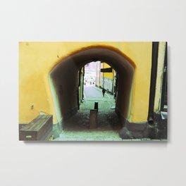 Stockholm. A Narrow Passage in Gamla Stan Metal Print