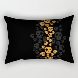 Skulls Fun - orange/black Rectangular Pillow