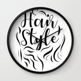 Hair Style Wall Clock