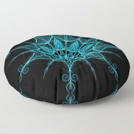 """Shiver"" mandala Floor Pillow"