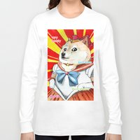 doge Long Sleeve T-shirts featuring Sailor Doge by Michael Thomas Grant