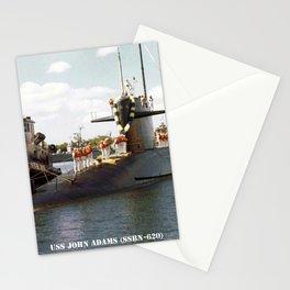 USS JOHN ADAMS (SSBN-620) Stationery Cards