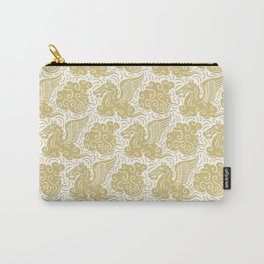 Pegasus Pattern Gold Carry-All Pouch