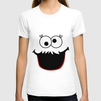 elmo T-shirts featuring Gimme Those Cookies Girl! by Alli Vanes