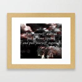 Pour A Drink Framed Art Print