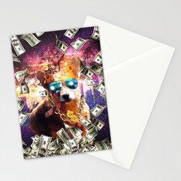 Bling Money Corgi Dog Thug Stationery Cards