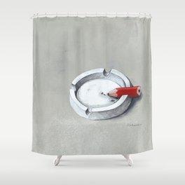 Burnout Shower Curtain