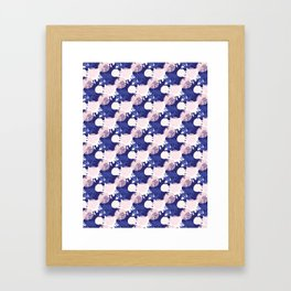 Abstract Geometric Circle Pattern, Seamless Vector Background, Hand Drawn Framed Art Print
