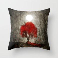 Red autumn. Throw Pillow
