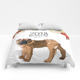 Year of the Dog Shar Pei Comforters