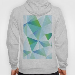 Ice Shards abstract geometric angles pattern Hoody