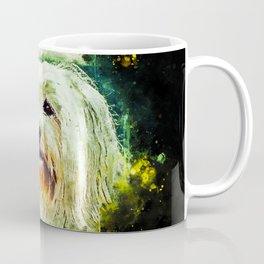 hairy havanese dog splatter watercolor Coffee Mug