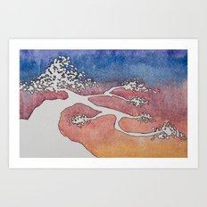 Bonsai Watercolor Art Print