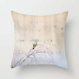 """Pretty Kingbird"" by Murray Bolesta Throw Pillow"