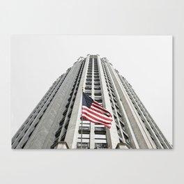 Tribune Tower, Chicago, Stars & Stripes Canvas Print