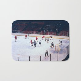 Vintage Ice Hockey Match Bath Mat