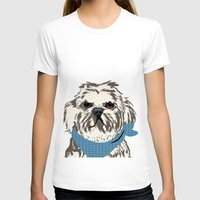 shih tzu T-shirts featuring Shih Tzu Dog Art by ialbert