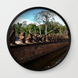 Angkor Wall Cambodia Wall Clock