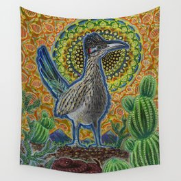 Attention (Roadrunner & Rattlesnake) Wall Tapestry