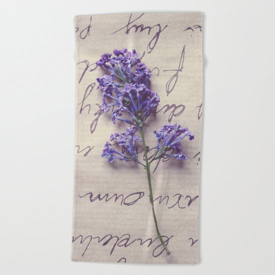 Love Letter With Lilac Beach Towel