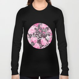 Floral pink vintage pattern Long Sleeve T-shirt