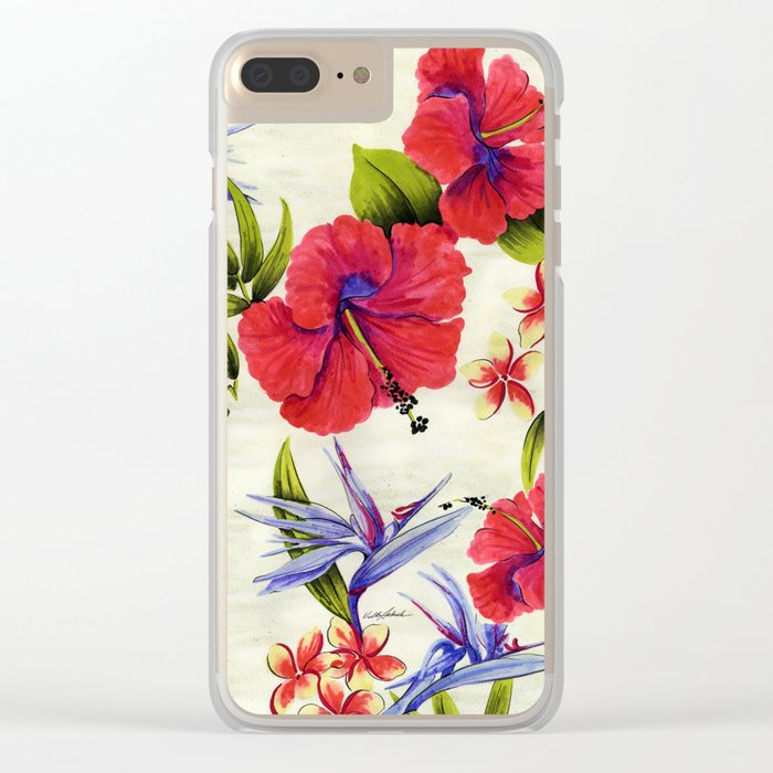 Paradise Party Clear iPhone Case