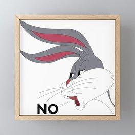 Bugs Bunny Meme NO Framed Mini Art Print
