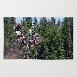 Closing In - Motocross Racers Rug