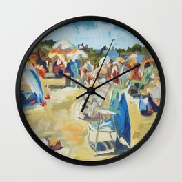 Beautiful Place by the Sea Wall Clock