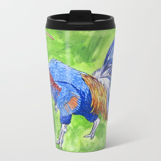 Parasaurooster Metal Travel Mug