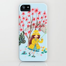 Butterfly Catcher iPhone Case