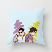 klaine Throw Pillows featuring Klaine by wellsi