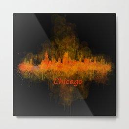 Chicago City Skyline Hq v4 Metal Print