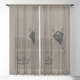 I am Kite - Birch brown Sheer Curtain