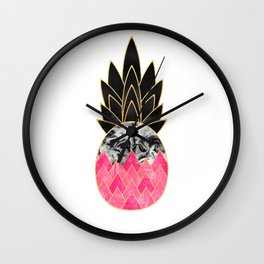 Precious Pineapple 2 Wall Clock